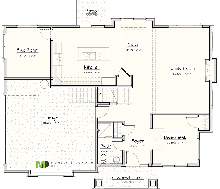 Magnolia place lot 1 custom homes seattle bellevue Place builders floor plans
