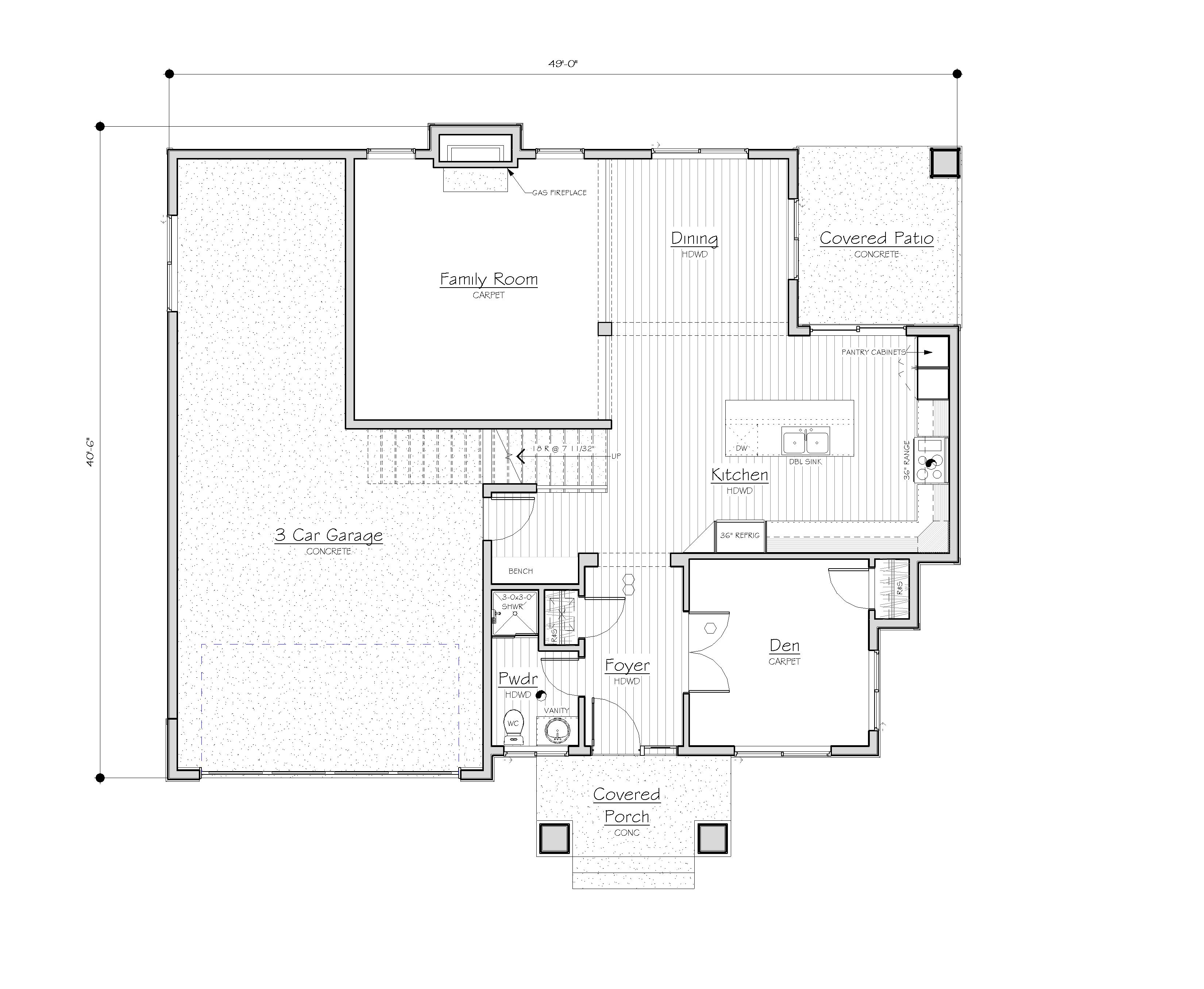 3521 ne 7th st lot 5 custom homes seattle bellevue for Copying house plans