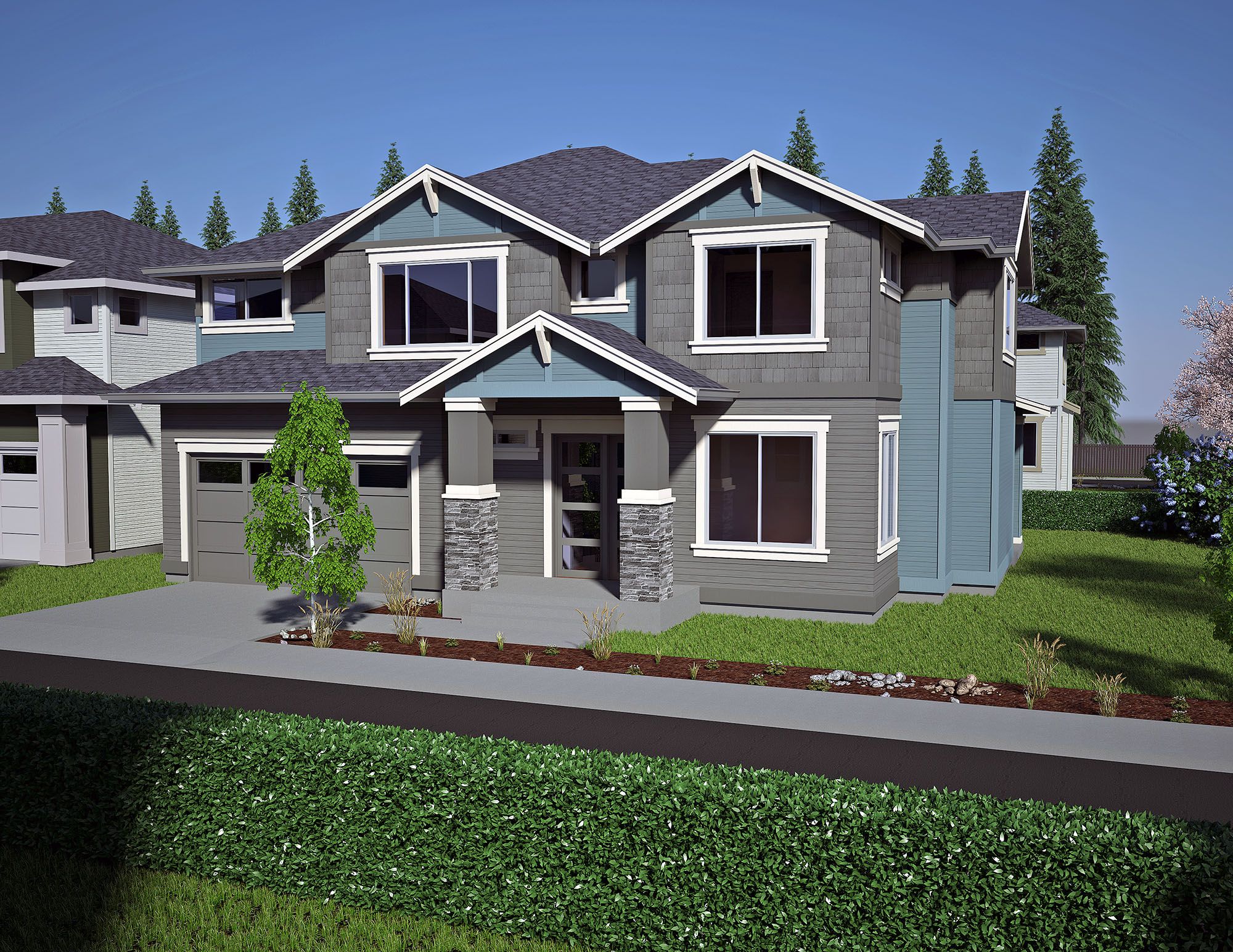 720 olympia ave ne lot 4 custom homes seattle bellevue for Olympia home builders